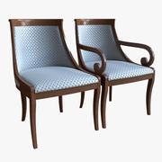 Cadeiras clássicas 3d model