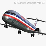 MD83 American Airlines 3d model