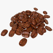 Bunch of Coffee Bean 3d model
