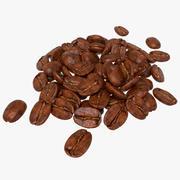 Bunch of Coffee Bean 3d model