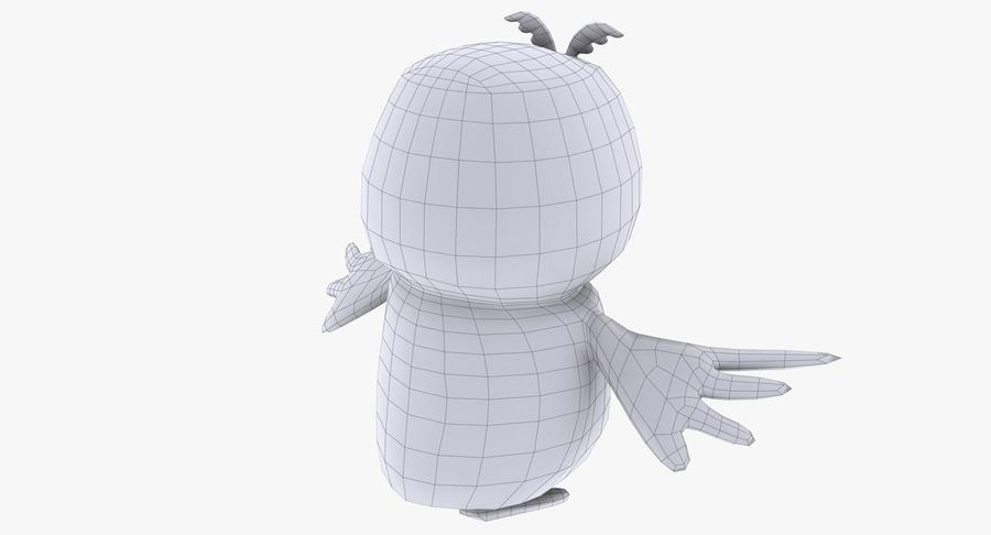 Owl royalty-free 3d model - Preview no. 19