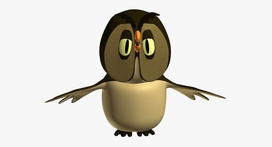 Owl royalty-free 3d model - Preview no. 4
