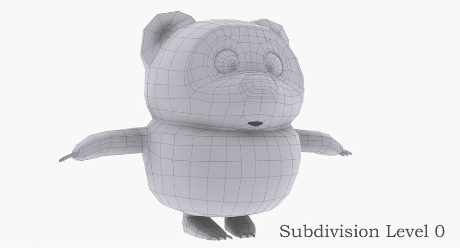 Winnie the Pooh royalty-free 3d model - Preview no. 10