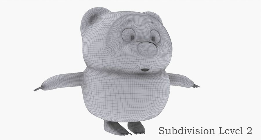 Winnie the Pooh royalty-free 3d model - Preview no. 12