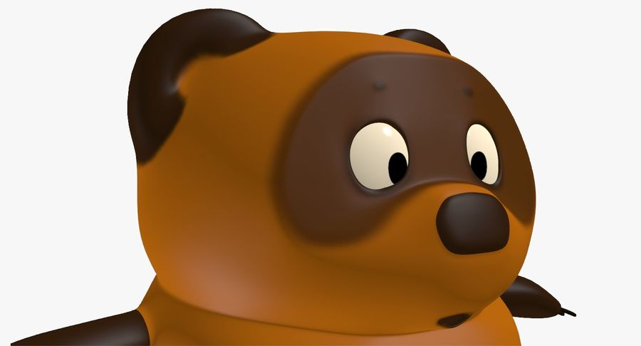 Winnie the Pooh royalty-free 3d model - Preview no. 8
