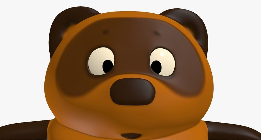 Winnie the Pooh royalty-free 3d model - Preview no. 9