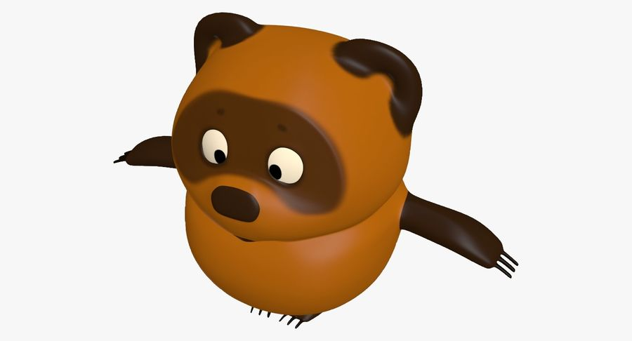 Winnie the Pooh royalty-free 3d model - Preview no. 7