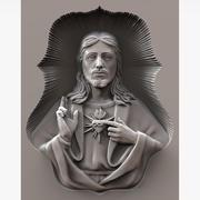 Jesus Christus Skulptur für CNC 3d model