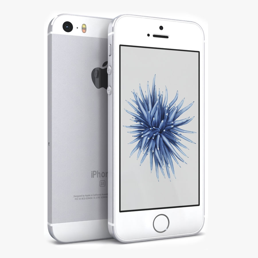 Apple iPhone SE Gümüş royalty-free 3d model - Preview no. 1