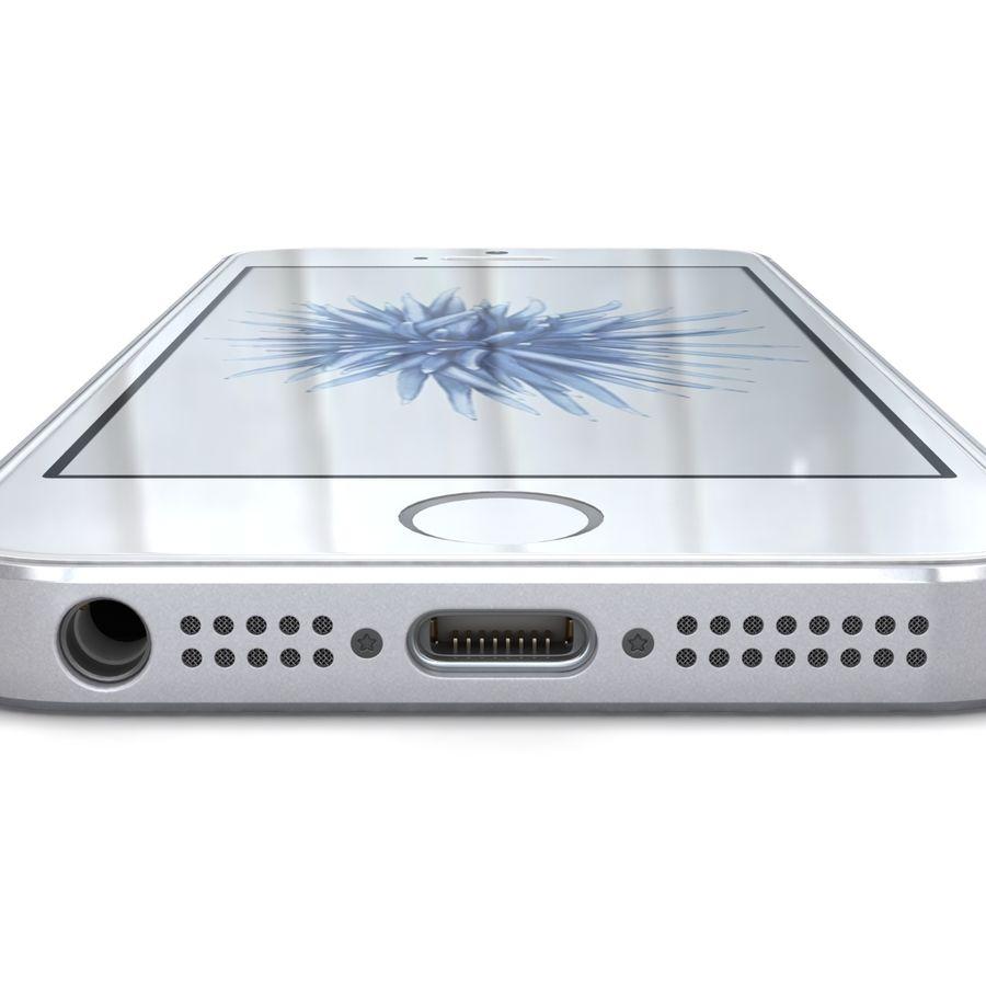 Apple iPhone SE Gümüş royalty-free 3d model - Preview no. 16