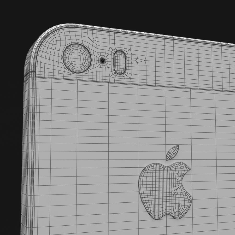 Apple iPhone SE Gümüş royalty-free 3d model - Preview no. 35