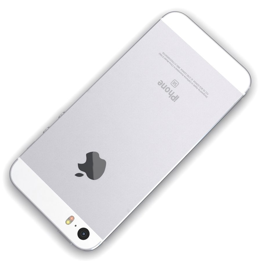 Apple iPhone SE Gümüş royalty-free 3d model - Preview no. 12