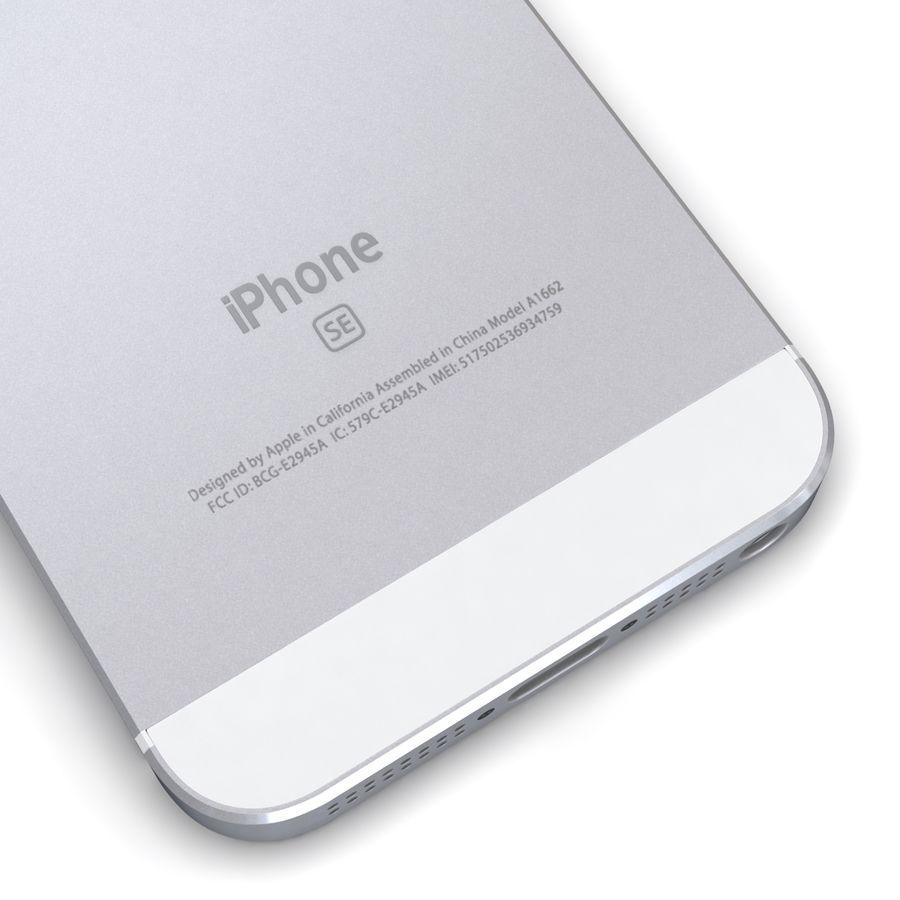 Apple iPhone SE Gümüş royalty-free 3d model - Preview no. 13