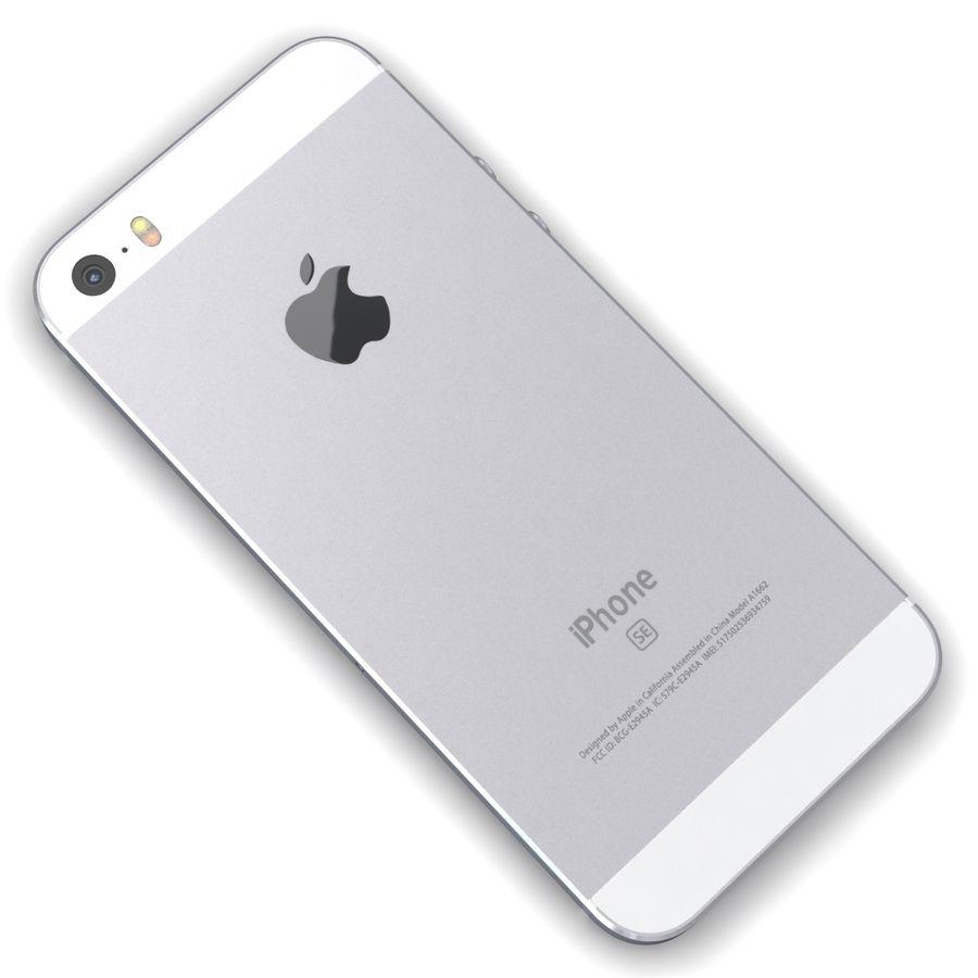 Apple iPhone SE Gümüş royalty-free 3d model - Preview no. 11