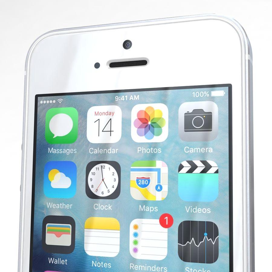 Apple iPhone SE Gümüş royalty-free 3d model - Preview no. 24
