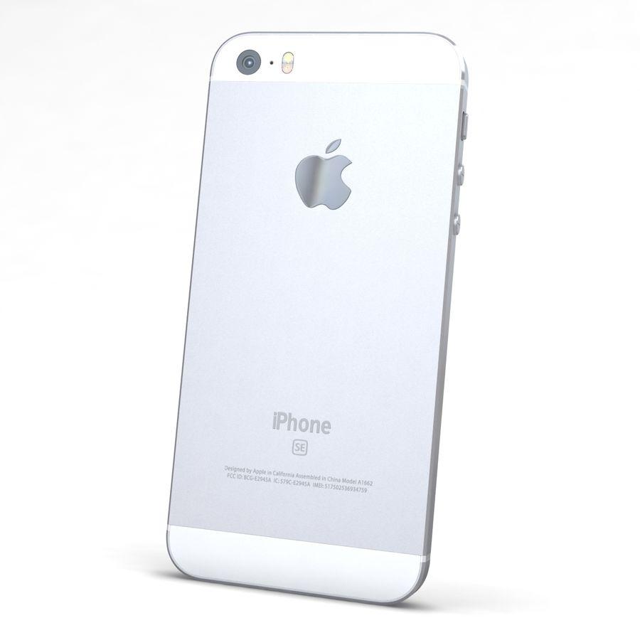 Apple iPhone SE Gümüş royalty-free 3d model - Preview no. 5