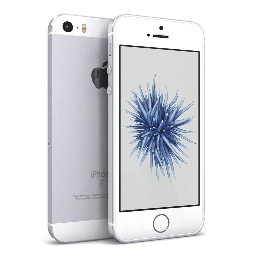 Apple iPhone SE Gümüş royalty-free 3d model - Preview no. 2