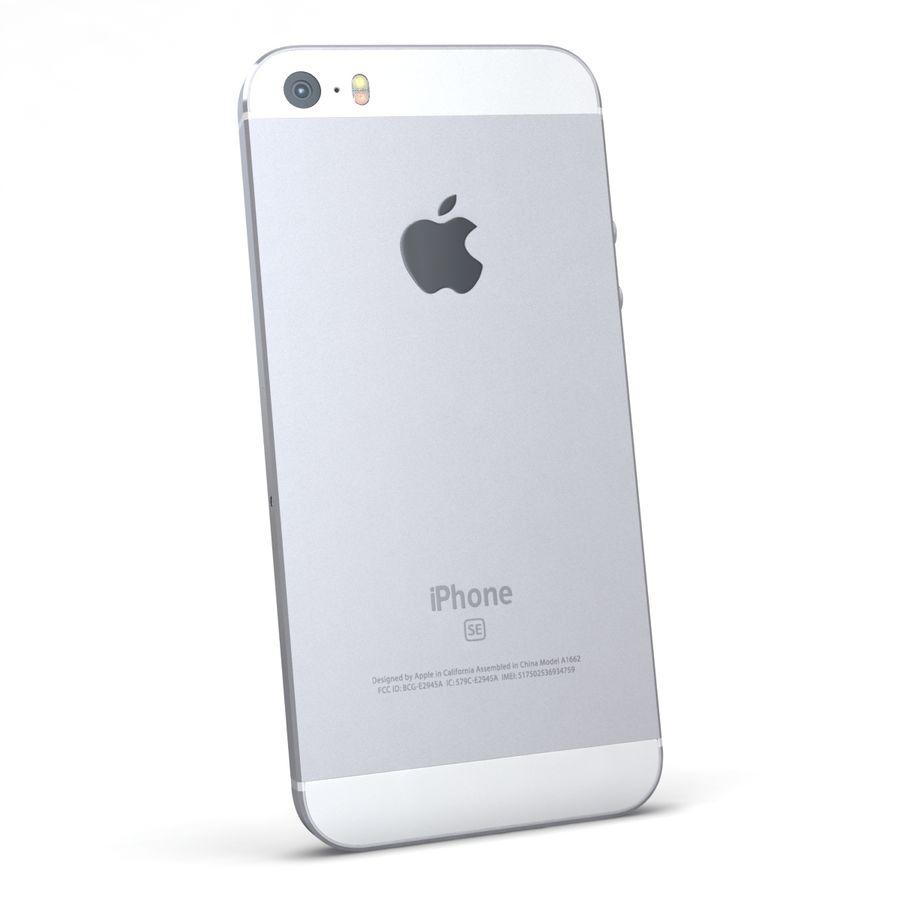 Apple iPhone SE Gümüş royalty-free 3d model - Preview no. 6