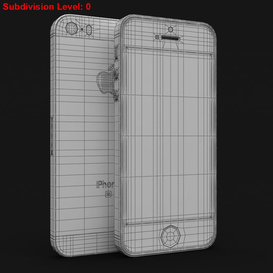 Apple iPhone SE Gümüş royalty-free 3d model - Preview no. 28
