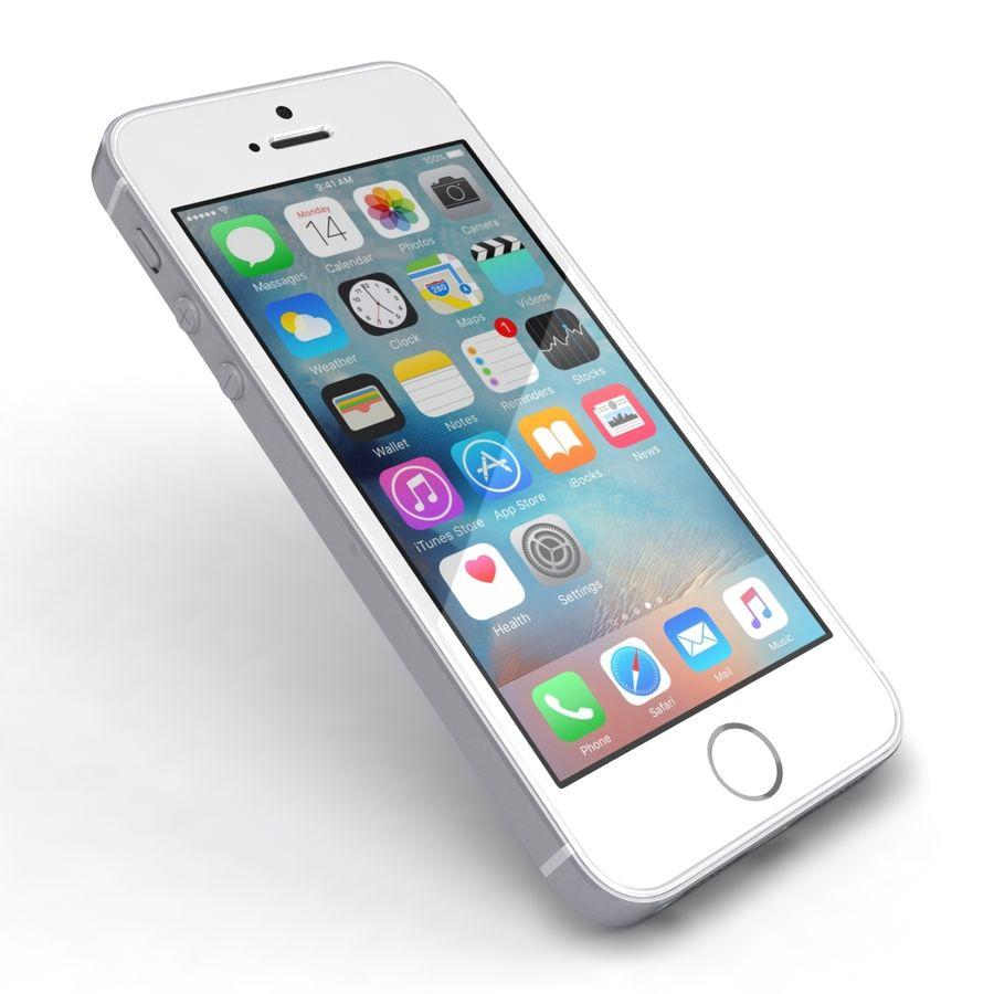 Apple iPhone SE Gümüş royalty-free 3d model - Preview no. 20