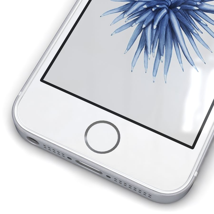 Apple iPhone SE Gümüş royalty-free 3d model - Preview no. 9