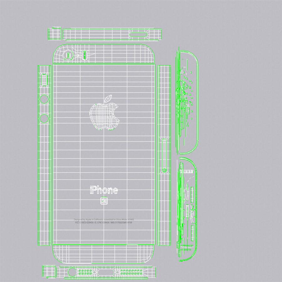 Apple iPhone SE Gümüş royalty-free 3d model - Preview no. 25
