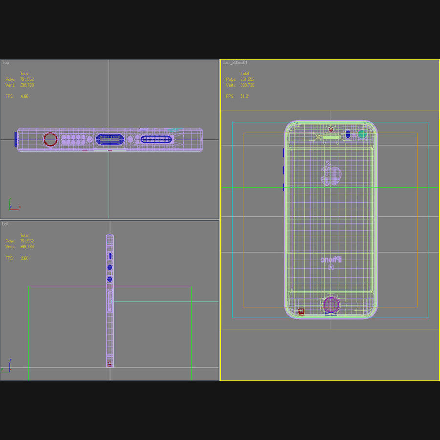 Apple iPhone SE Gümüş royalty-free 3d model - Preview no. 44