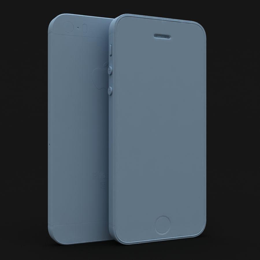 Apple iPhone SE Gümüş royalty-free 3d model - Preview no. 26