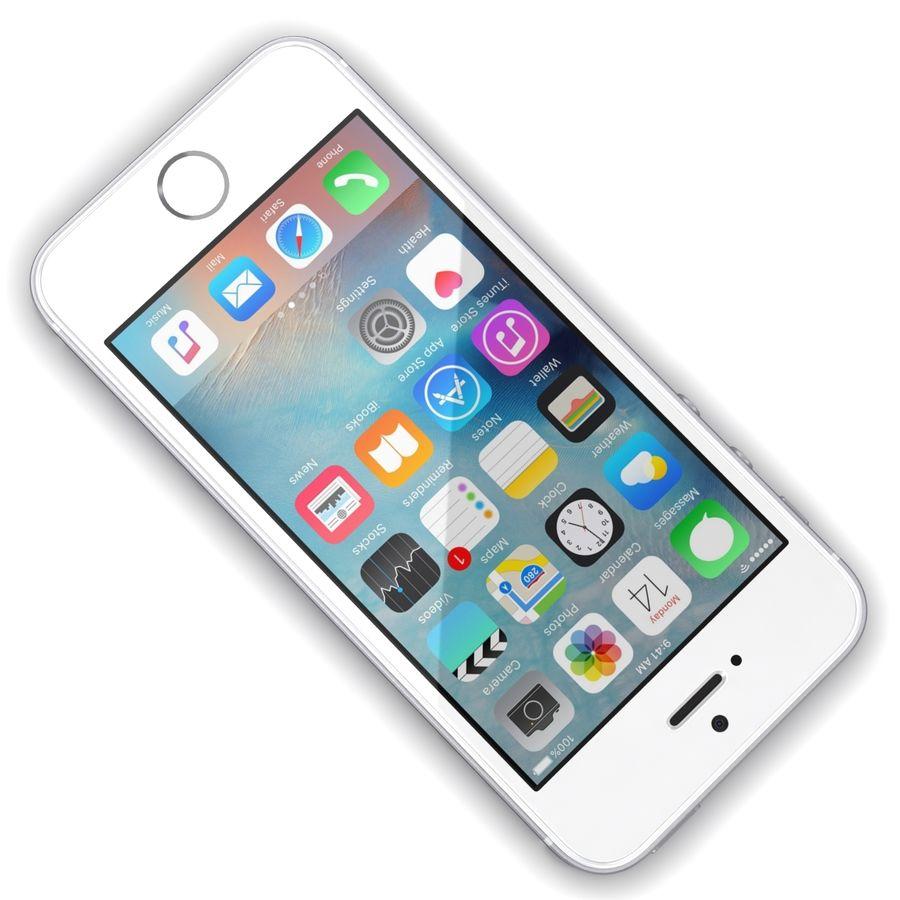 Apple iPhone SE Gümüş royalty-free 3d model - Preview no. 8