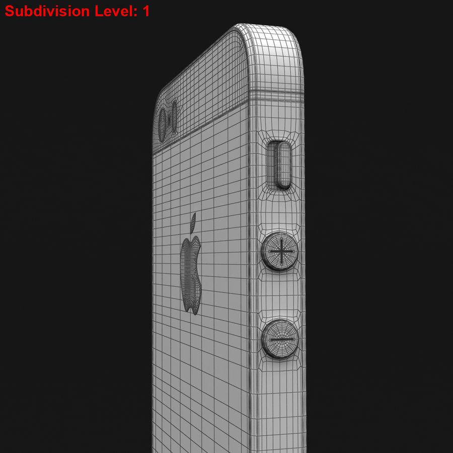Apple iPhone SE Gümüş royalty-free 3d model - Preview no. 33
