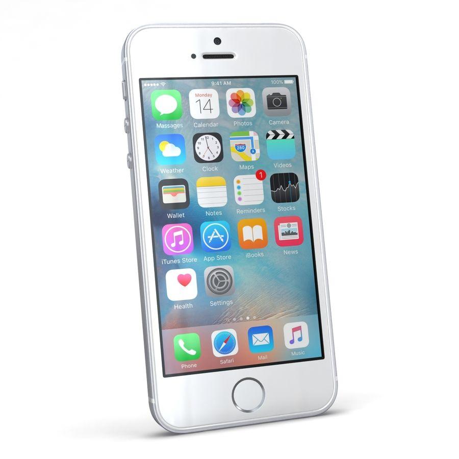 Apple iPhone SE Gümüş royalty-free 3d model - Preview no. 4