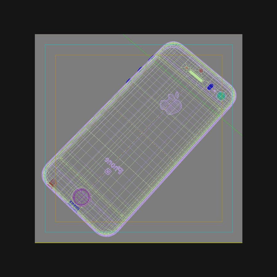 Apple iPhone SE Gümüş royalty-free 3d model - Preview no. 43