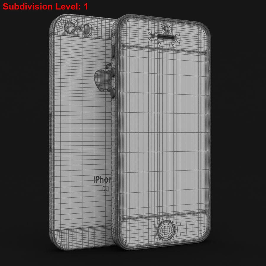 Apple iPhone SE Gümüş royalty-free 3d model - Preview no. 27