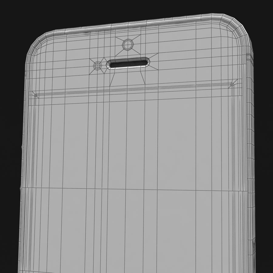 Apple iPhone SE Gümüş royalty-free 3d model - Preview no. 42