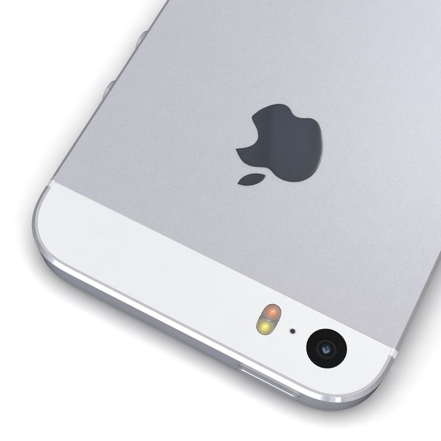 Apple iPhone SE Gümüş royalty-free 3d model - Preview no. 14