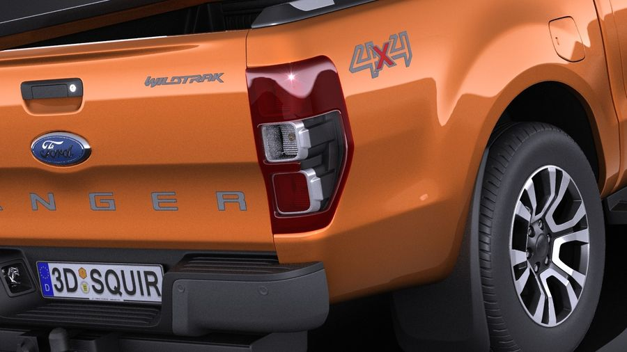 Ford Ranger wildtrak 2017 royalty-free 3d model - Preview no. 4
