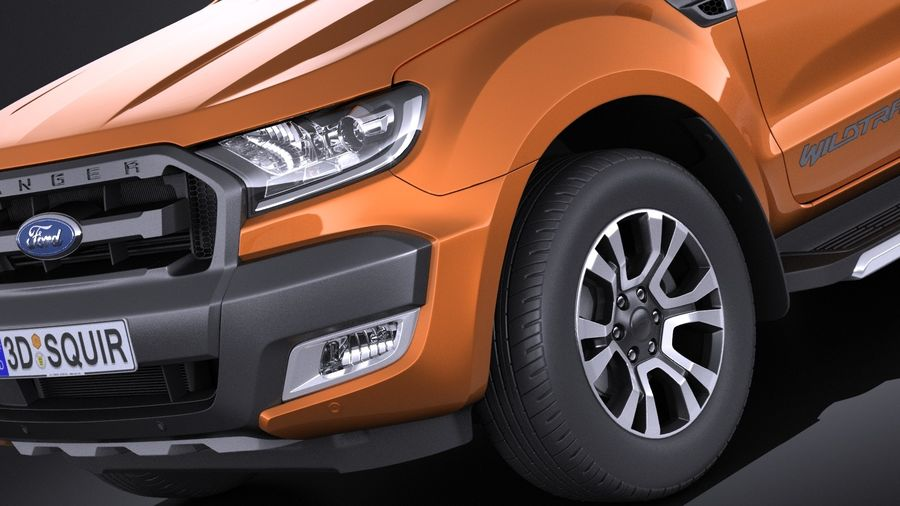 Ford Ranger wildtrak 2017 royalty-free 3d model - Preview no. 3