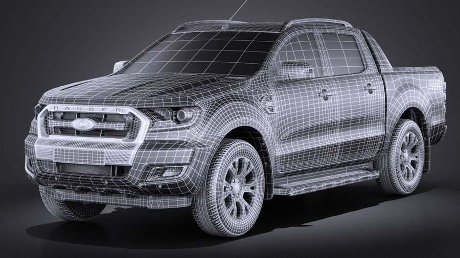 Ford Ranger wildtrak 2017 royalty-free 3d model - Preview no. 11