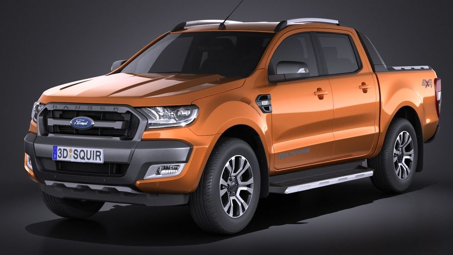 Ford Ranger wildtrak 2017 royalty-free 3d model - Preview no. 1