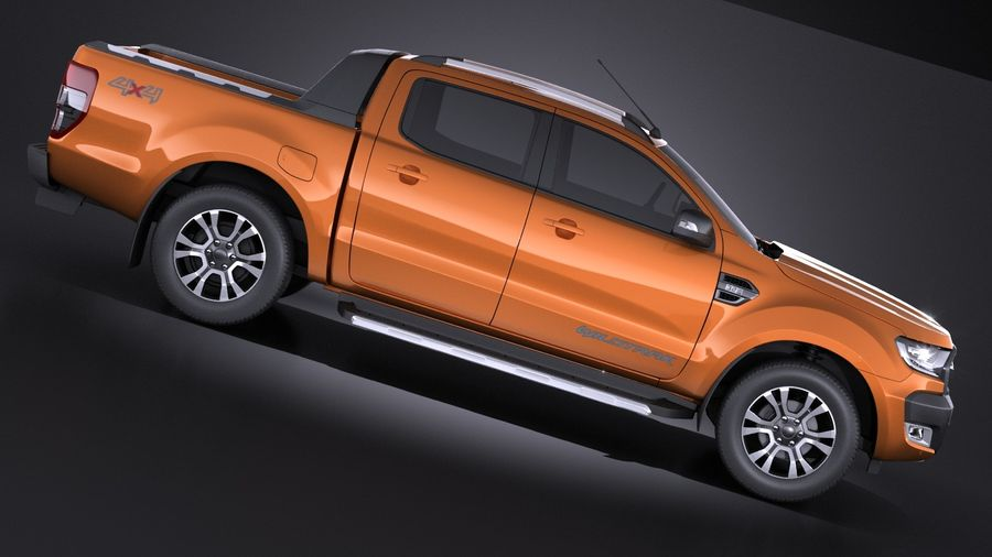 Ford Ranger wildtrak 2017 royalty-free 3d model - Preview no. 7