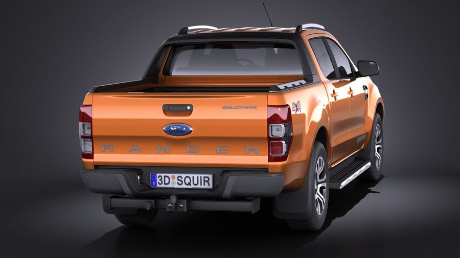 Ford Ranger wildtrak 2017 royalty-free 3d model - Preview no. 5