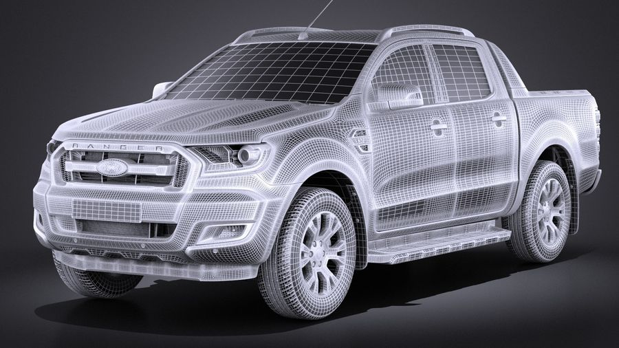 Ford Ranger wildtrak 2017 royalty-free 3d model - Preview no. 9