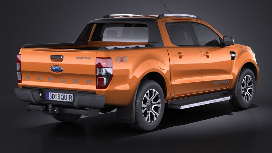 Ford Ranger wildtrak 2017 royalty-free 3d model - Preview no. 6
