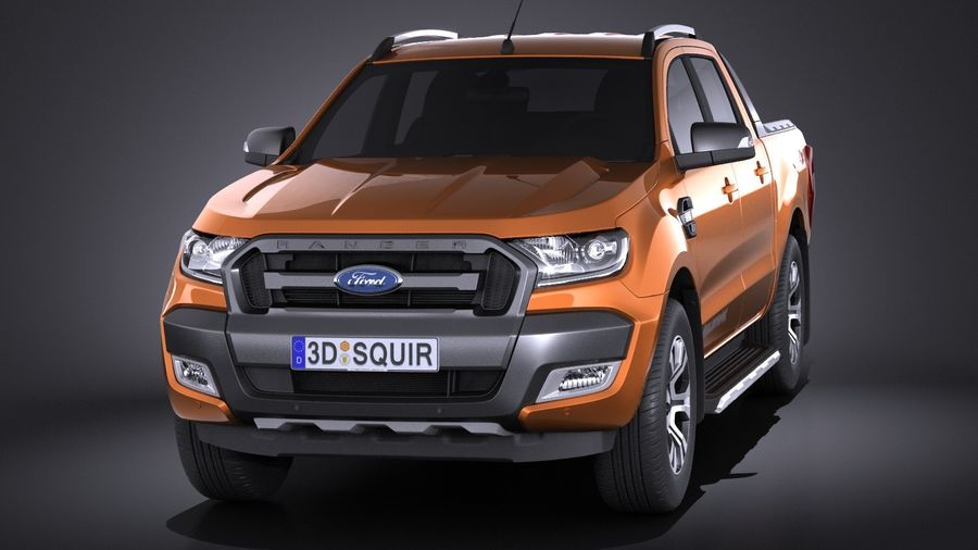 Ford Ranger wildtrak 2017 royalty-free 3d model - Preview no. 2