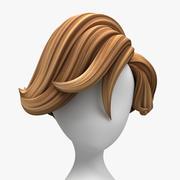 Tecknad hår (Surfer Style) 3d model