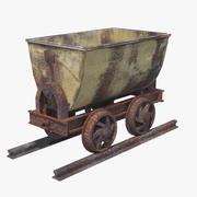 Rusted Mine Cart PBR 3d model