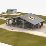 Hypergolic Fuel Farm 3d model