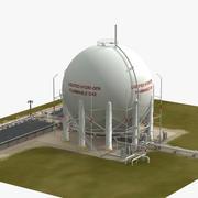 Shuttle LH2 Depolama Tesisleri 3d model