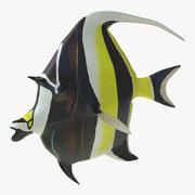 Moorish Idol Fish Pose 2 3D Model 3d model