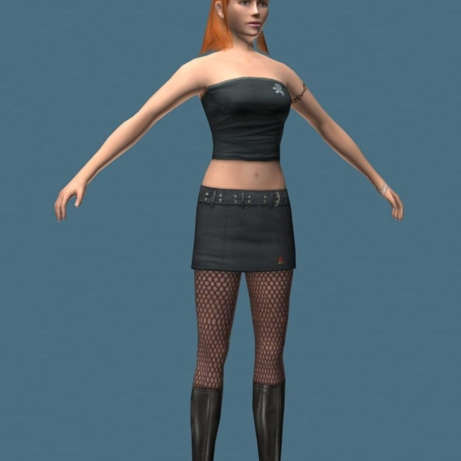 High Heel Girl (High Poly) royalty-free 3d model - Preview no. 1